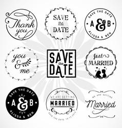 Wedding Design Elements Badges and Labels vector image