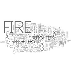 What is it like to be a firefighter text word vector