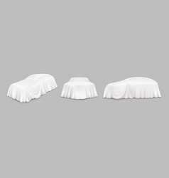 white car reveal curtain isolated vector image