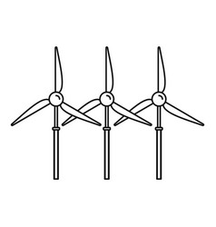 Wind turbine generator icon outline style vector