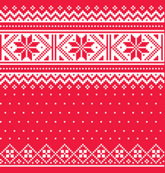Winter christmas fair isle style traditional knit vector