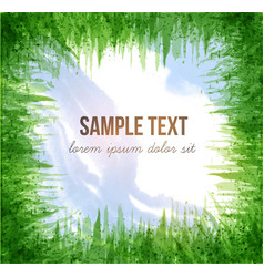 with blue sky and green grass vector image