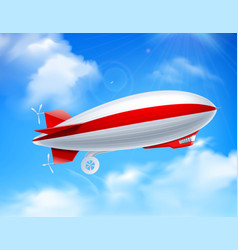 zeppelin on sky composition vector image