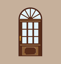 door design colored vector image