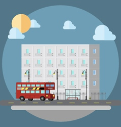 Flat design of cityscape street vector