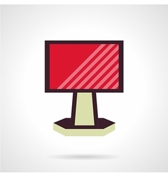 Red ad billboard flat icon vector image
