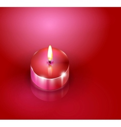 romantic candles background vector image