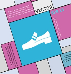 Shoe icon sign Modern flat style for your design vector image