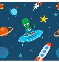 Space pattern vector image