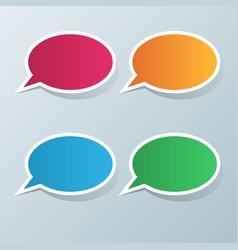Speech bubl icon dialog box info vector