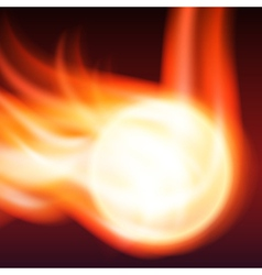 Abstract background with flames vector image vector image