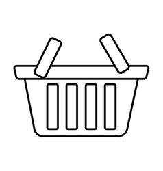 basket shop market icon outline vector image vector image