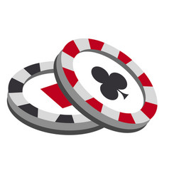 casino chips on white background vector image