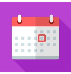 Colorful calendar icon in modern flat style with vector image vector image
