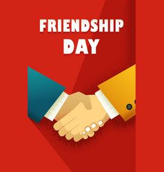 day of friendship poster vector image vector image