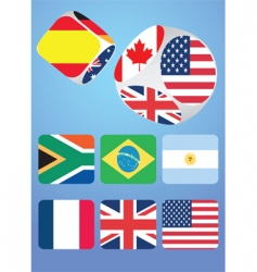 dice with national flags vector image
