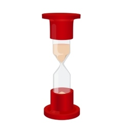 Glass hourglass with red tips vector image