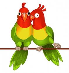lovebirds vector image