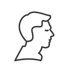 man profile line icon sign vector image vector image