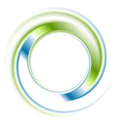 Abstract bright blue green ring logo vector image vector image