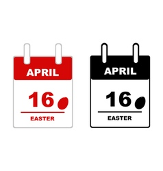 Easter calendar 2017 vector image vector image