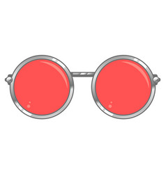 rose colored glasses vector image