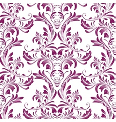 Seamless damask texture vector image vector image