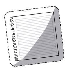 silhouette notebook school icon vector image