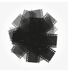 Trimming of the film background vector