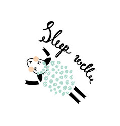another sleeping sheep vector image vector image