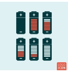 Battery icon isolated vector image
