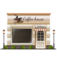 coffee house store colored vector image