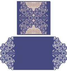 Laser cut pattern for invitation card vector