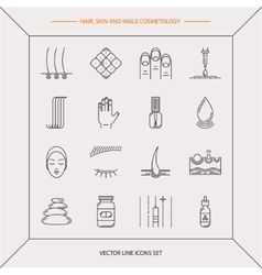 Set of cosmetology icons vector image vector image