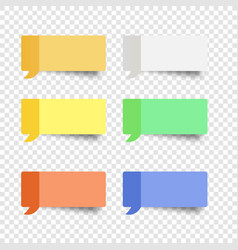 Sticky note set message box post note vector