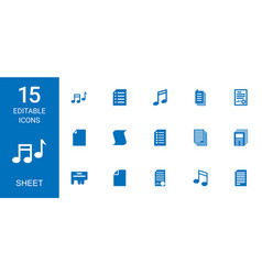 15 sheet icons vector