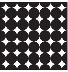 abstract black circle pattern background im vector image
