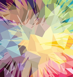 Abstract colorful triangle geometrical background vector