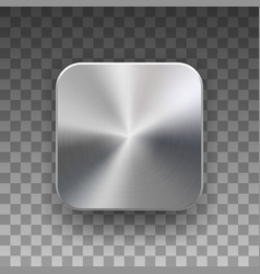 app icon template with metal texture vector image