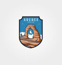 Arches national park emblem logo sticker patch vector