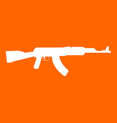 assault rifle white icon vector image