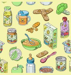 Baby food child healthy nutrition vector