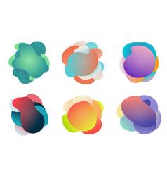 badges set fluid or liquid gradient shapes vector image