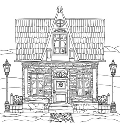 Black and white of a house vector image