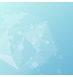 Blue crystal structure editable background vector