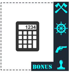 calculator icon flat vector image
