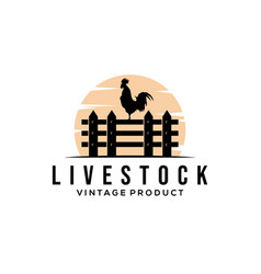 Chicken farm livestock logo vector