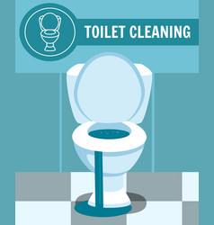 Clogged toilet bowl leakage vector