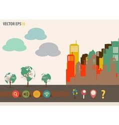 Colorful buildings design vector