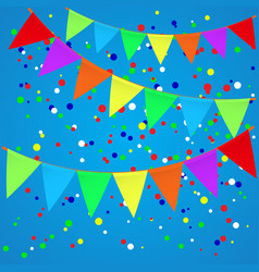 Colorful confetti background with flags vector